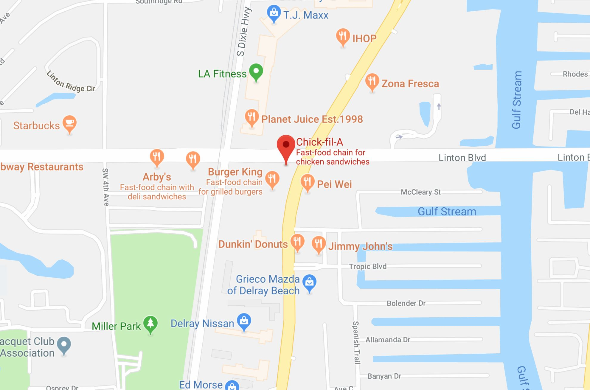 cfa delray map